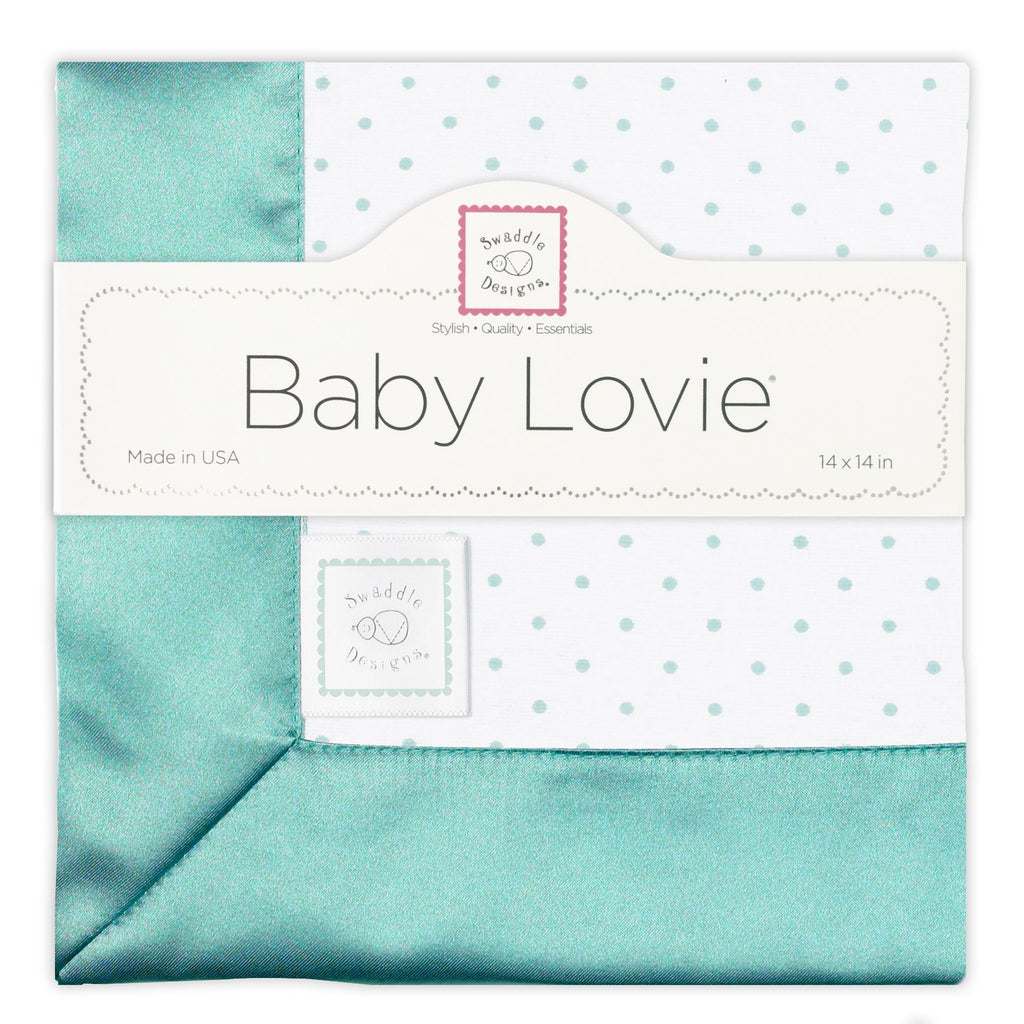 Cotton Baby Lovie - Polka Dots, SeaCrystal