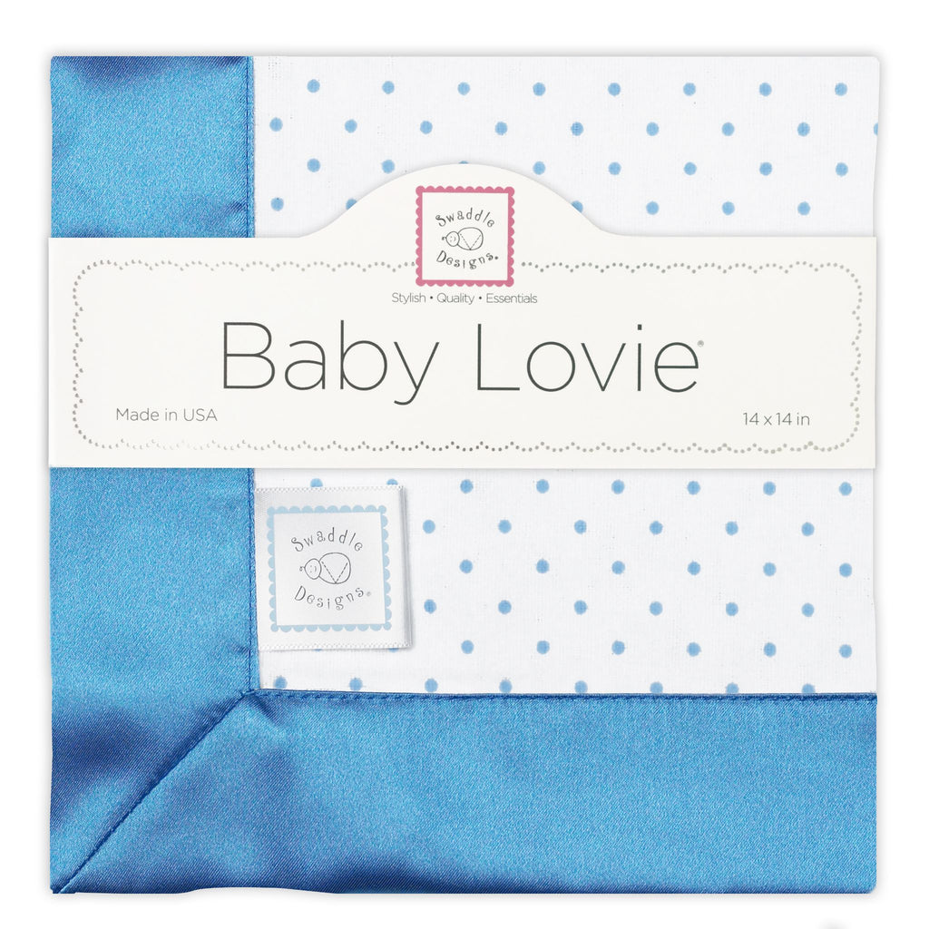 Cotton Baby Lovie - Polka Dots, Blue