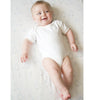 Short Sleeve Bodysuit - Ivory Organic with Kiwi Dots, Kiwi