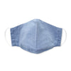 Kids Face Mask, 3-Layer Cotton Chambray, Light Denim