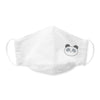 Kids Face Mask, 3-Layer Cotton Chambray, Panda, White