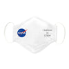 3-Layer Woven Cotton Chambray Face Mask, NASA, I believe in STEM, White