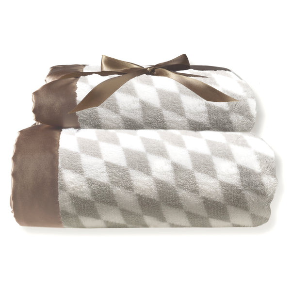 Mommy and Me Blanket - Forever Diamond, Taupe Grey