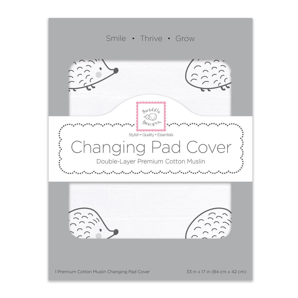Muslin Changing Pad Cover - Hedgehog
