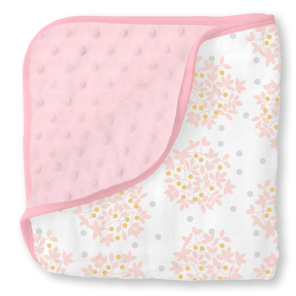 Muslin Snuggle Blanket - Heavenly Floral Shimmer