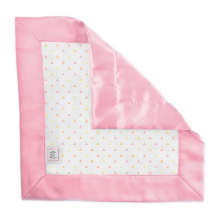 Muslin Single Baby Lovie - Tiny Triangles Shimmer