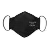 3-Layer Cotton Chambray Face Mask, Black, We're Going to be Okay
