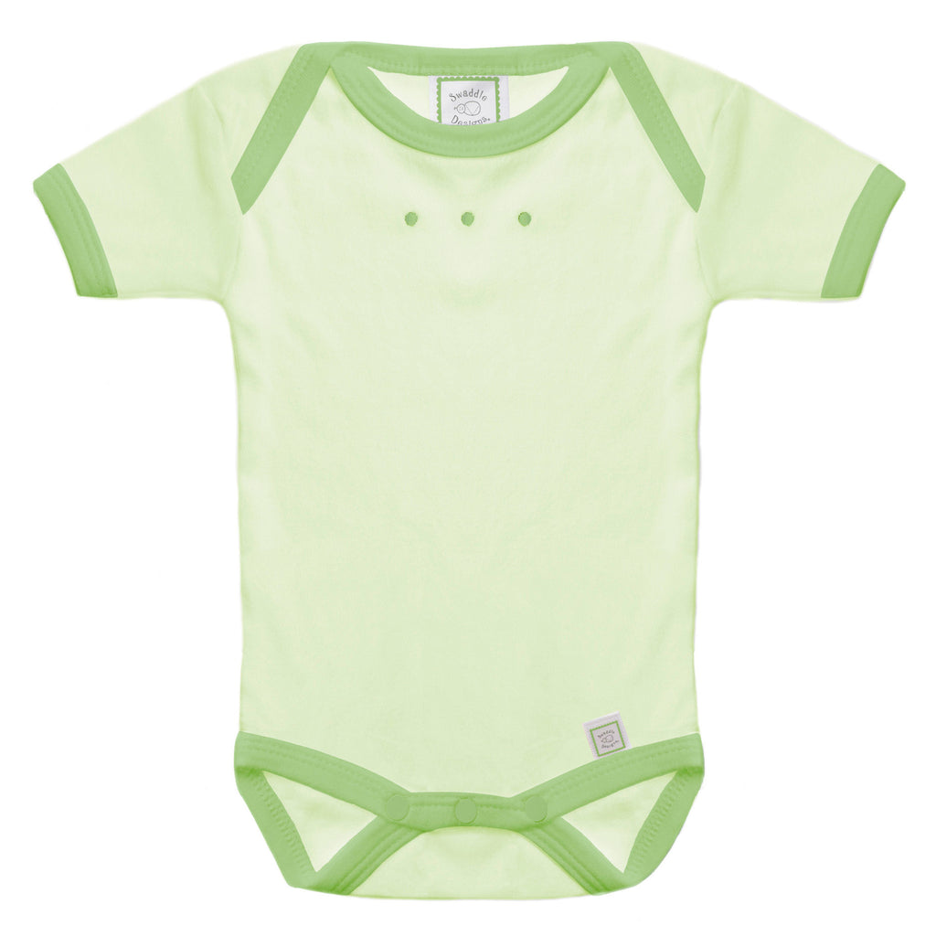 Short Sleeve Bodysuit - Kiwi with Light Pure Green Trim