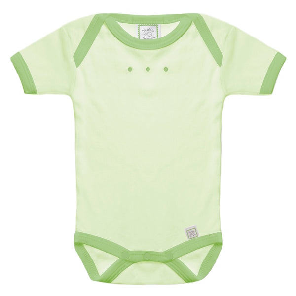 Short Sleeve Bodysuit - Kiwi with Pure Green Trim, Pure Green
