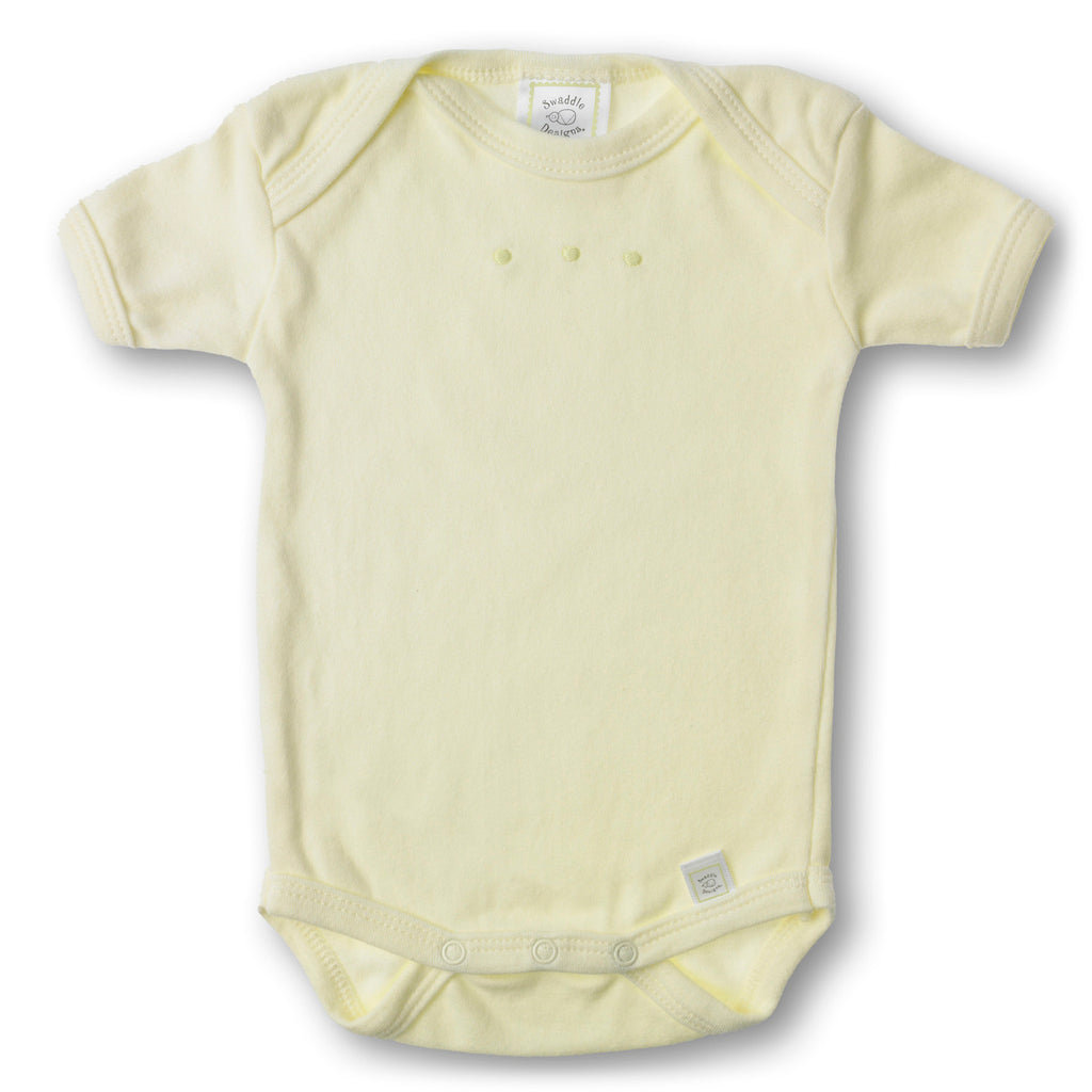 Short Sleeve Bodysuit - Kiwi with Pastel Dots, Kiwi