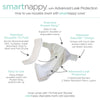 SmartNappy NextGen Hybrid Reusable Cloth Diaper Cover + 1 Reusable Insert + 1 Reusable Booster - Confetti, Sterling