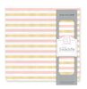 Muslin Swaddle Single - Alternating Stripes with Shimmer, Pink