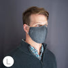 3-Layer Cotton Chambray Face Mask, Black - RBG, Equality for Everyone