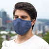 3-Layer Woven Cotton Chambray Face Mask, Denim