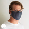 3-Layer Cotton Chambray Face Mask, Heart, Black