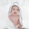 Muslin + Terry Hooded Towel - Tiny Triangle Shimmer, Sterling