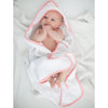 Muslin + Terry Hooded Towel - Tiny Triangle Shimmer, Pink