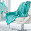 Adult Luxury Throw - Puff Circle, Turquoise