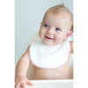 Bitty Bib - White Terry Pastel Trim - Personalize It