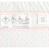 Ultimate Swaddle Blanket - White with Pastel Trim, Pastel Pink