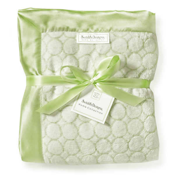 Adult Luxury Throw - Puff Circle, Kiwi