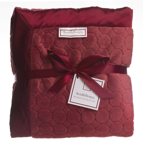 Adult Luxury Throw - Puff Circle, Truffle
