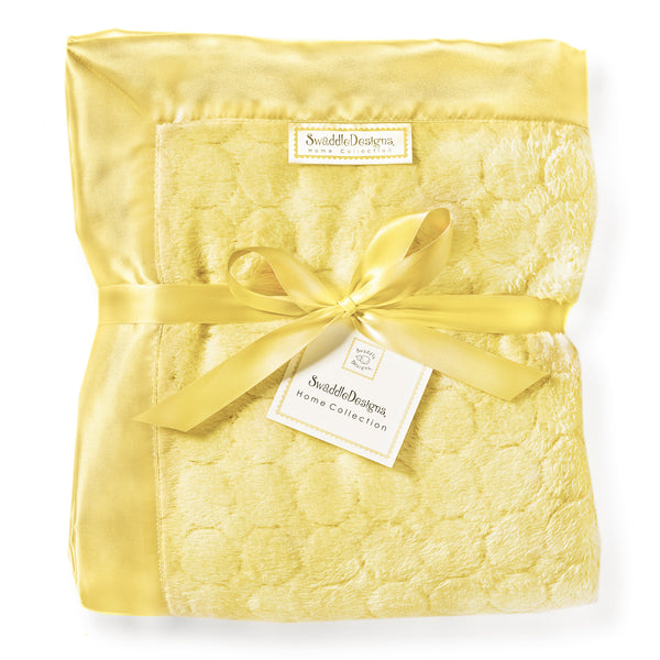 Adult Luxury Throw - Puff Circle, Yellow