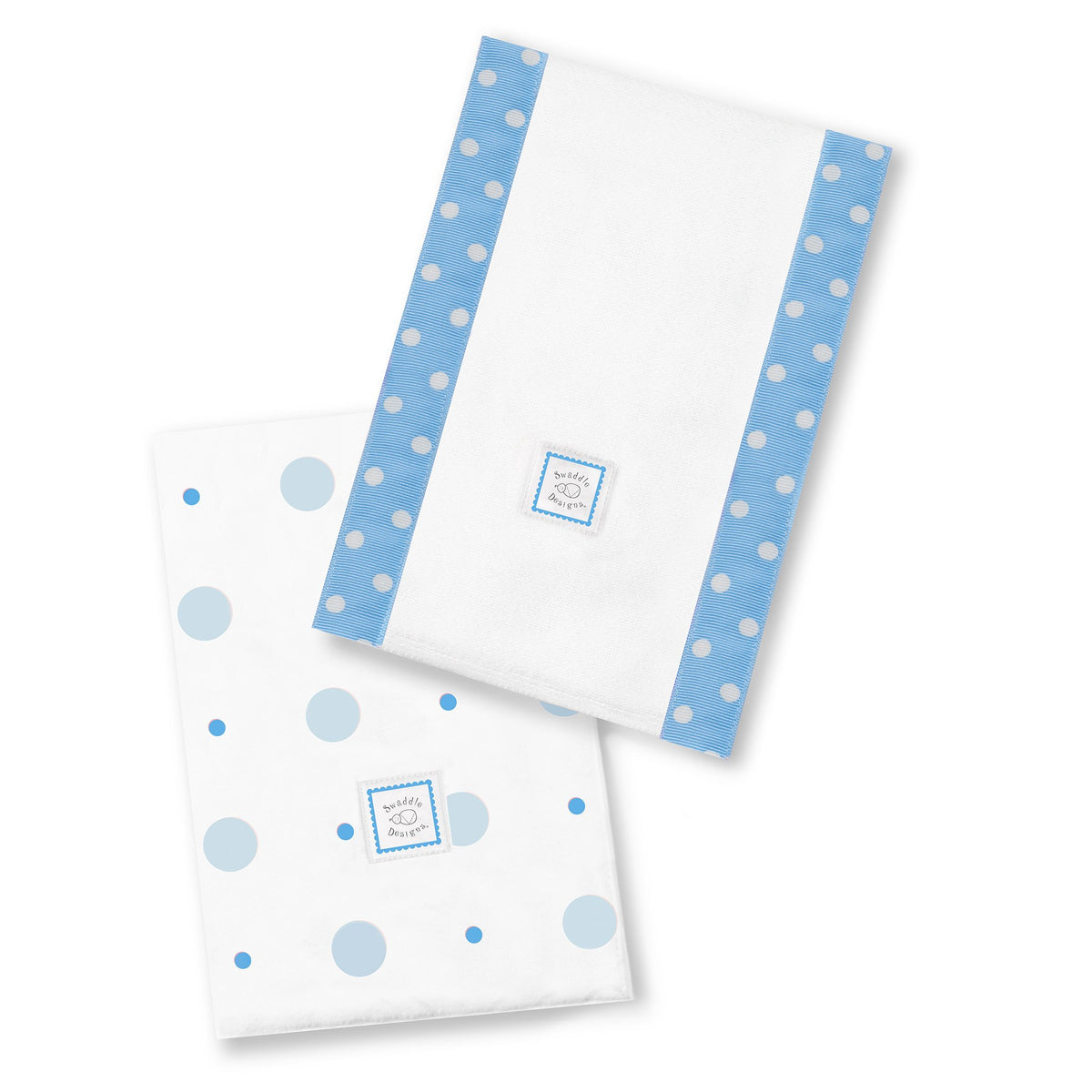 Blue Safari Fun Set of 2 Cotton Burp Cloths SwaddleDesigns Baby Burpies