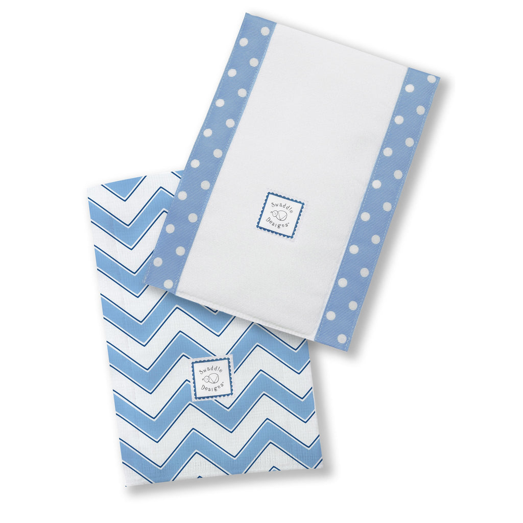 Baby Burpies - Chevron, Blue - Customized