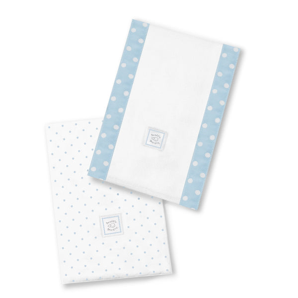 Baby Burpies - Polka Dots, Pastel Blue
