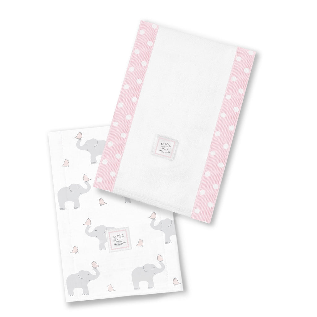 Baby Burpies - Elephant & Chickies, Pastel Pink - Customized