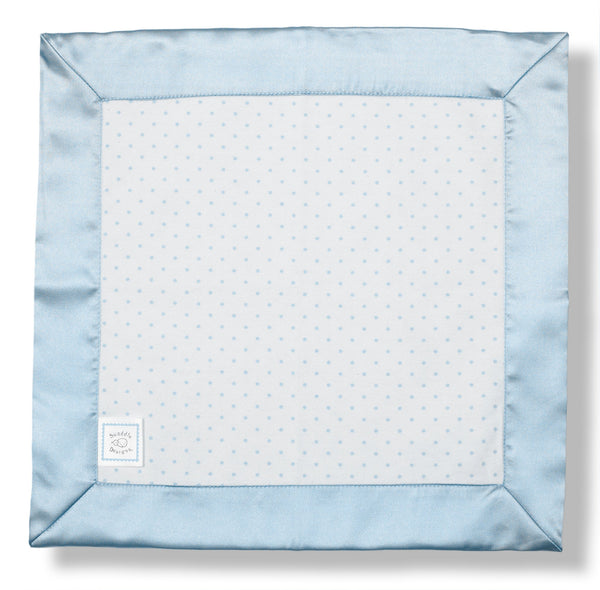Cotton Baby Lovie - Polka Dots, Pastel Blue - Customized