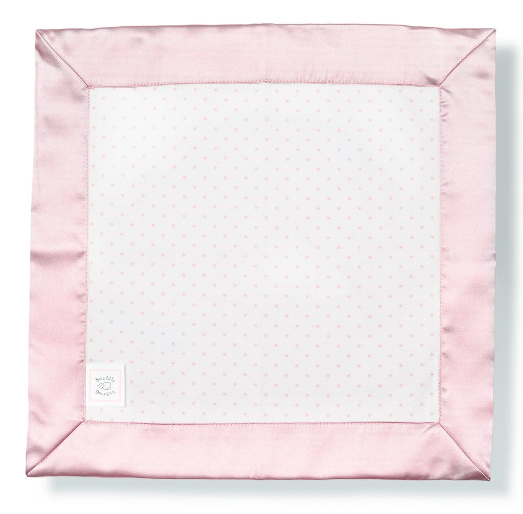 Cotton Baby Lovie - Polka Dots, Pastel Pink - Customized