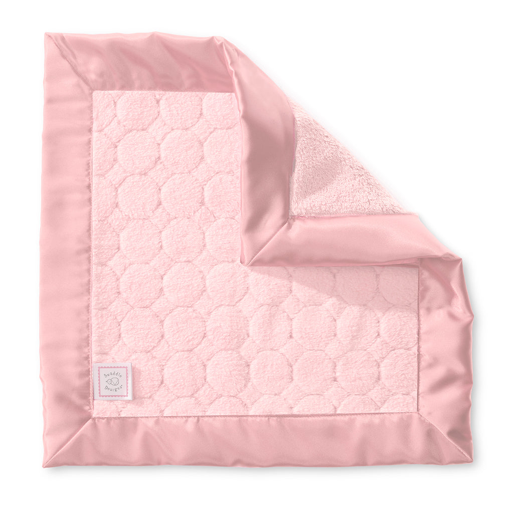 Cozy Baby Lovie - Puff Circles, Coral Pink