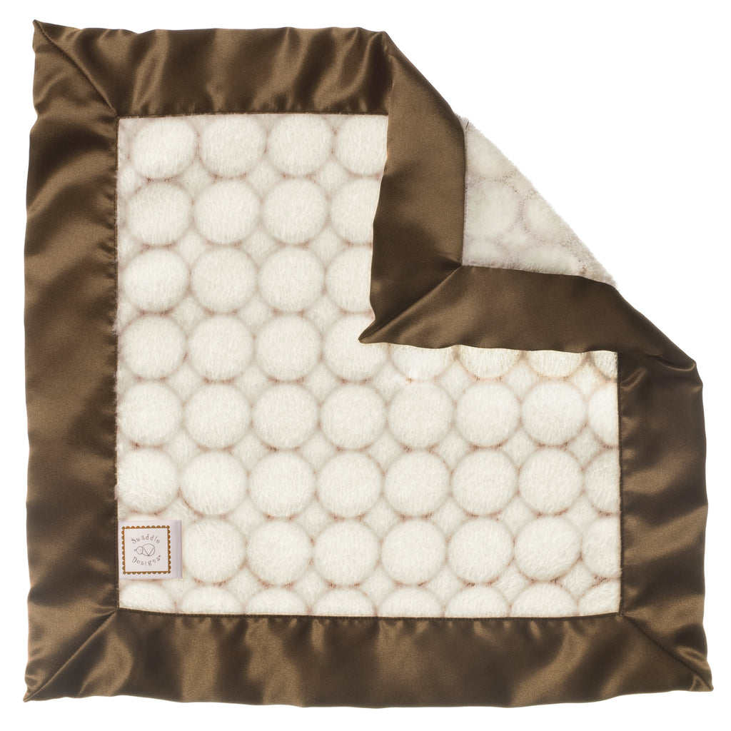Cozy Baby Lovie - Ivory Puff Circle, Mocha