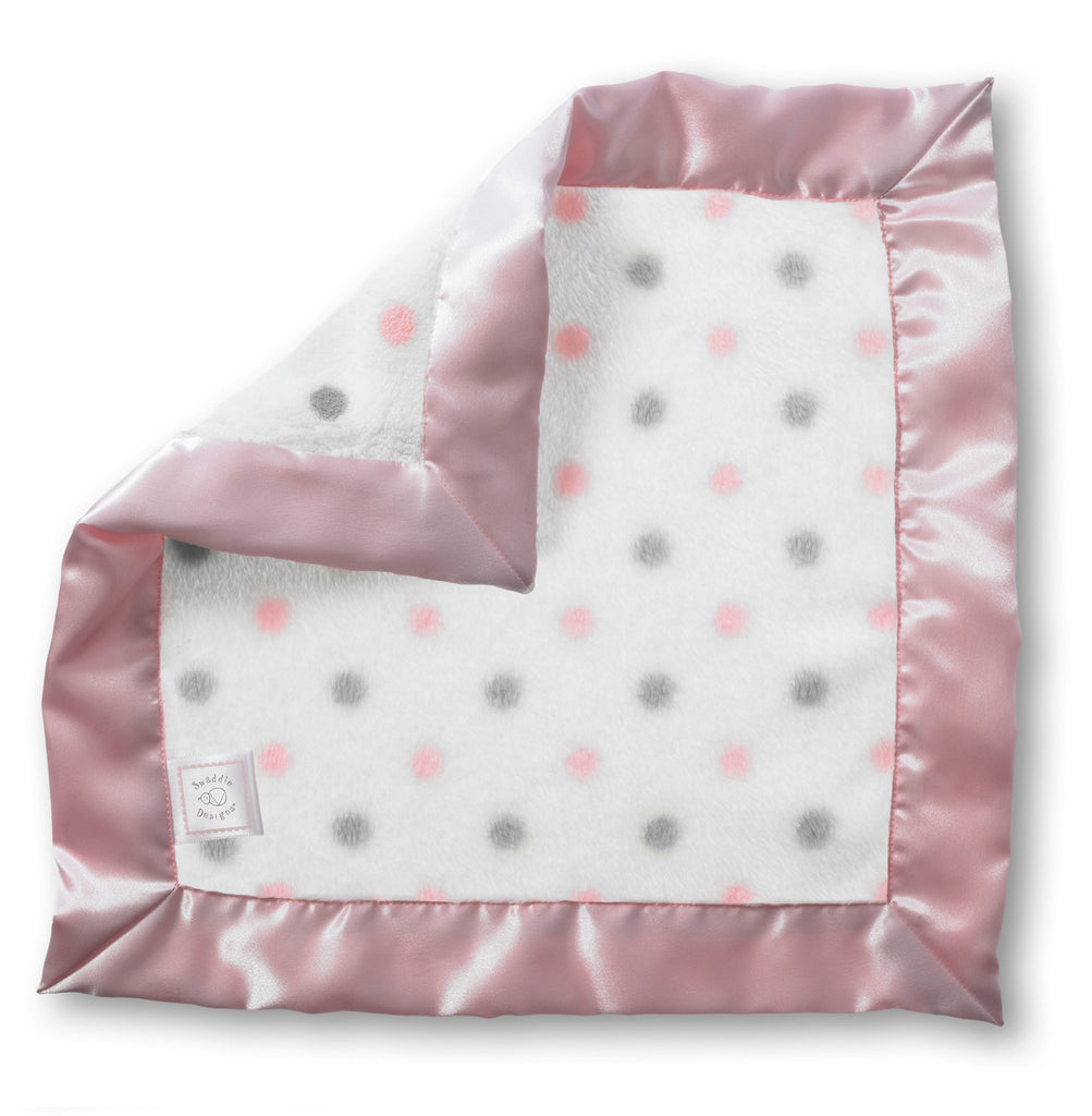 Cozy Baby Lovie - Sterling Dots with Pastel