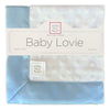 Baby Lovie -  Plush Dots, Pastel Blue