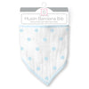Muslin Bandana Bib - French Dots, Pastel Blue