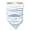 Muslin Bandana Bib - Stripes, Blue