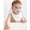 Muslin Bandana Bib - Tiny Triangles Shimmer, Blue