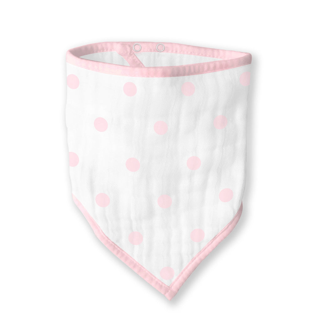 Muslin Bandana Bib - French Dots