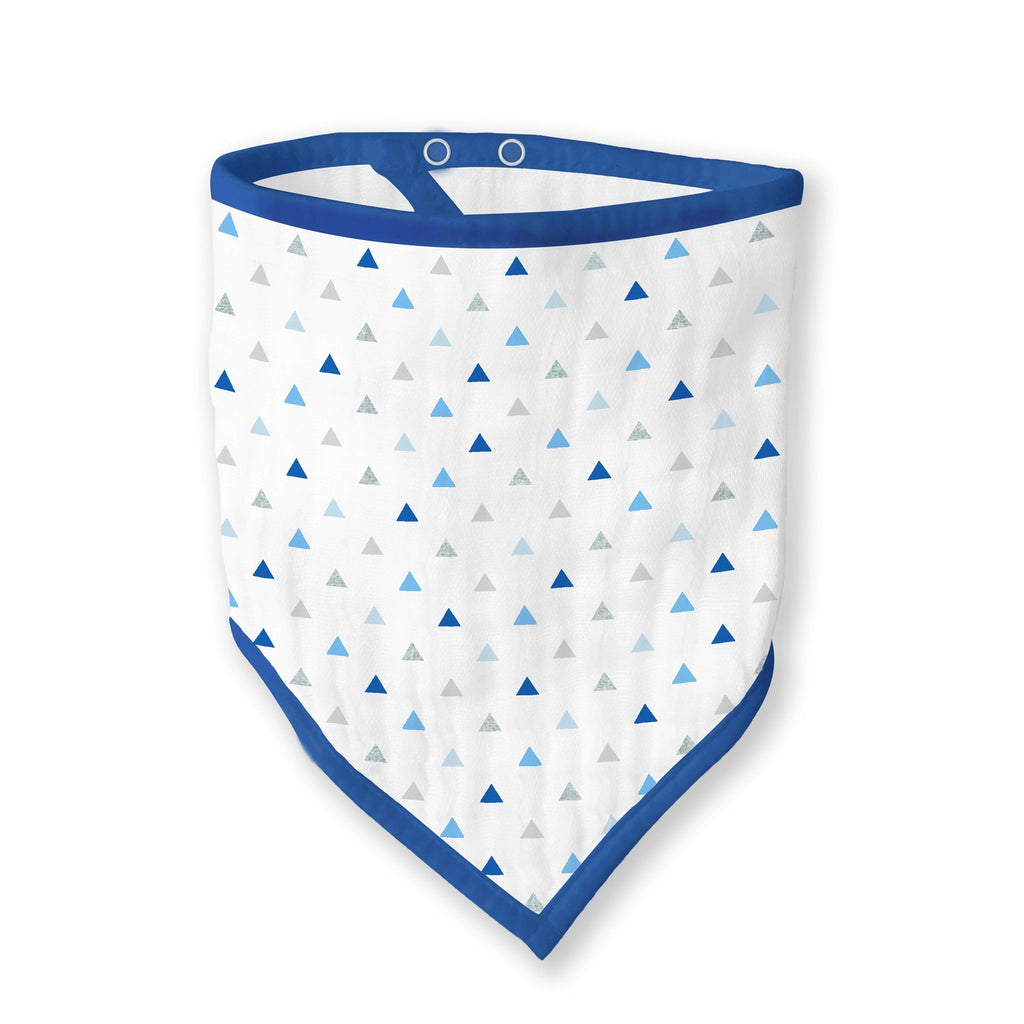 Muslin Bandana Bib - Tiny Triangles Shimmer