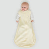 Cotton Knit zzZipMe Sack Set - Pastel Yellow + Tiny Triangles Shimmer Gown