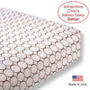 Flannel Fitted Crib Sheet - Brown Mod Circles, Pastel Pink