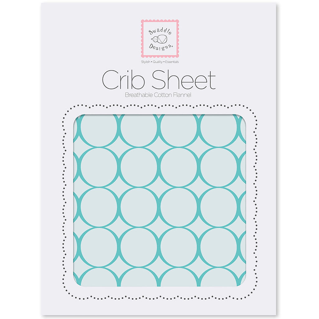 Flannel Fitted Crib Sheet - Jewel Tone Mod Circles