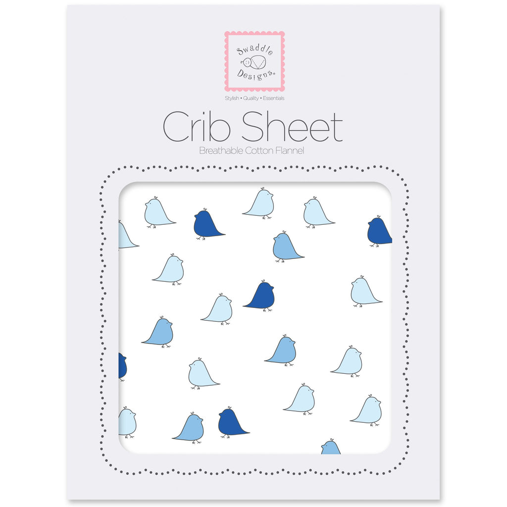 Flannel Fitted Crib Sheet - Little Chickies