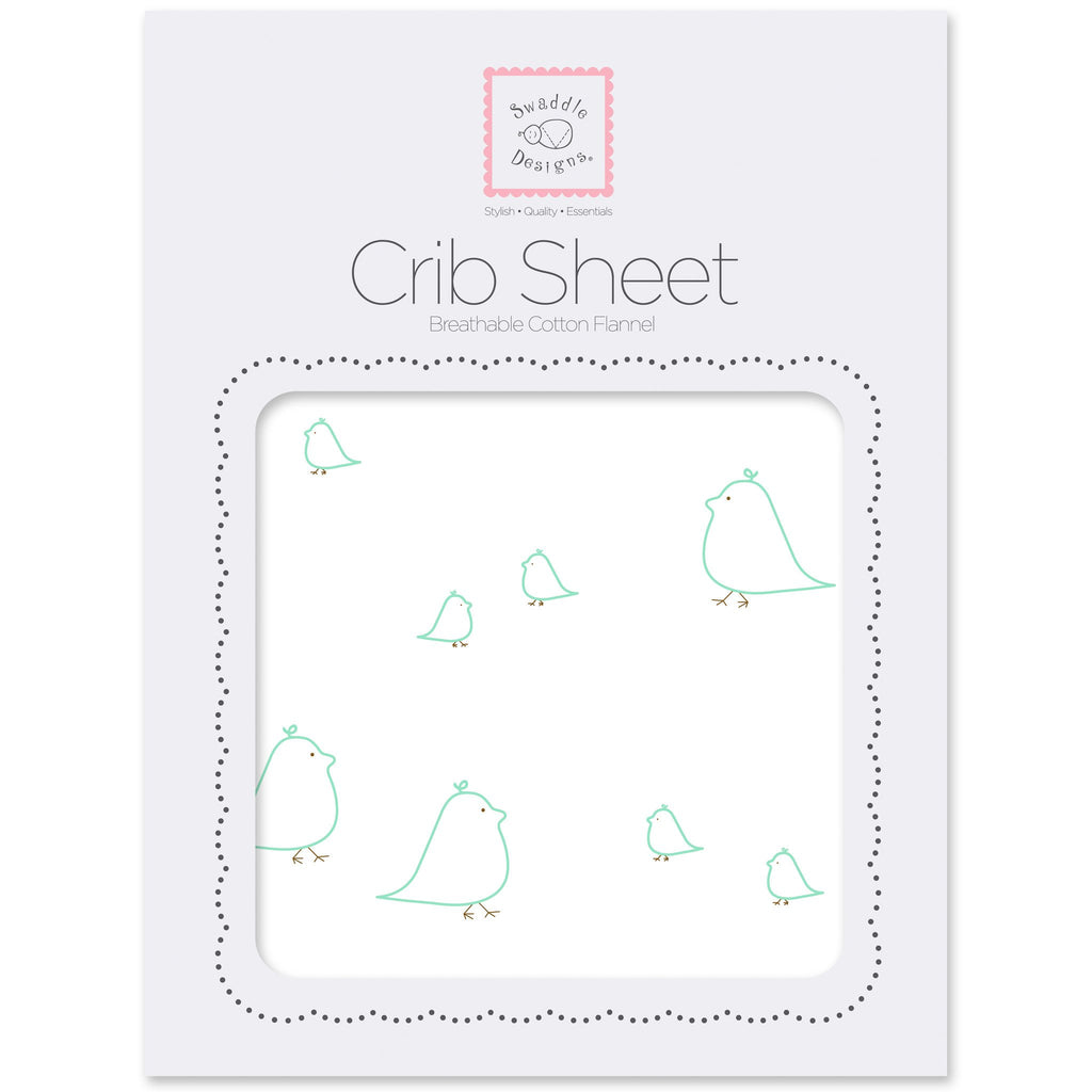 Flannel Fitted Crib Sheet - Mama & Baby Chickies