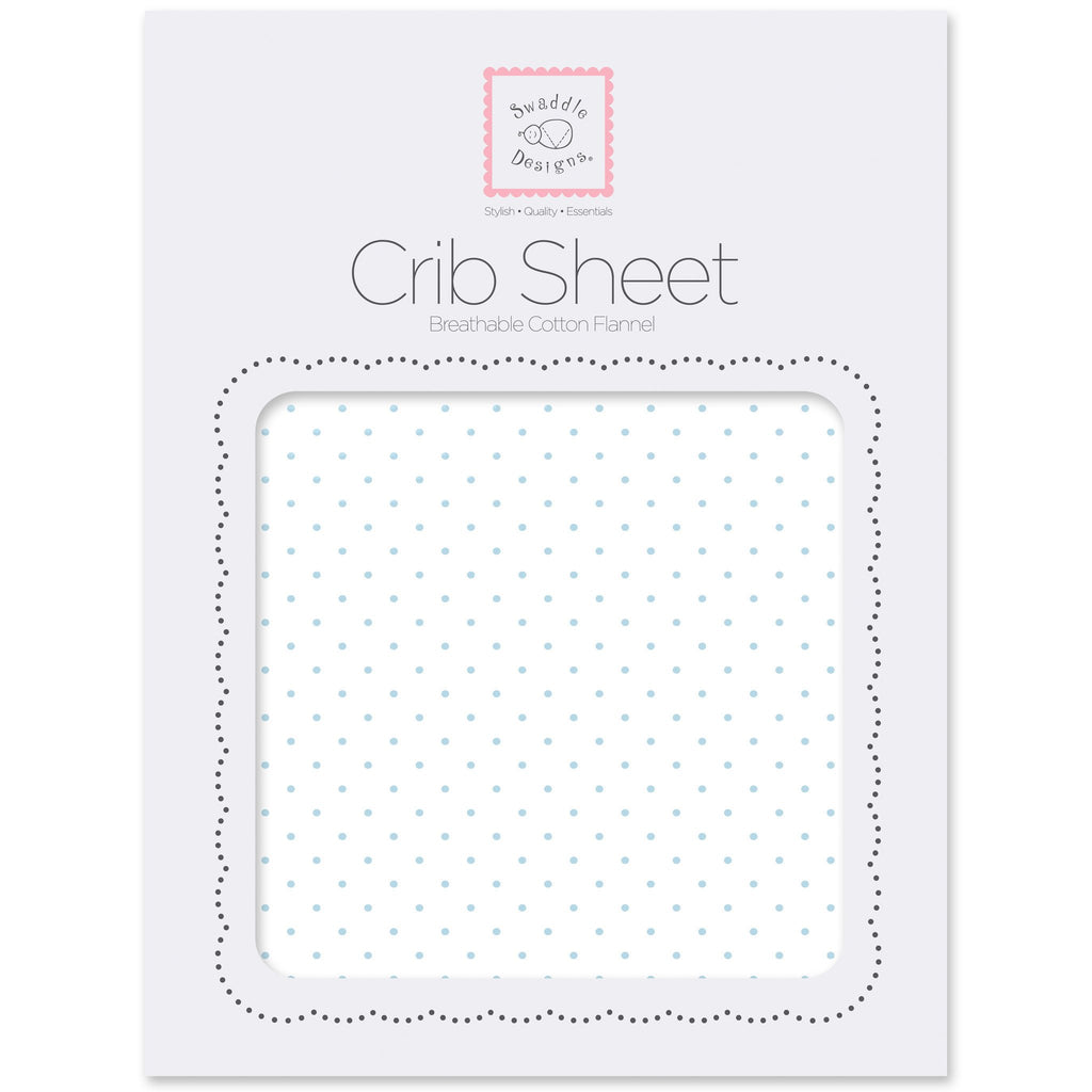 Flannel Fitted Crib Sheet - Polka Dots