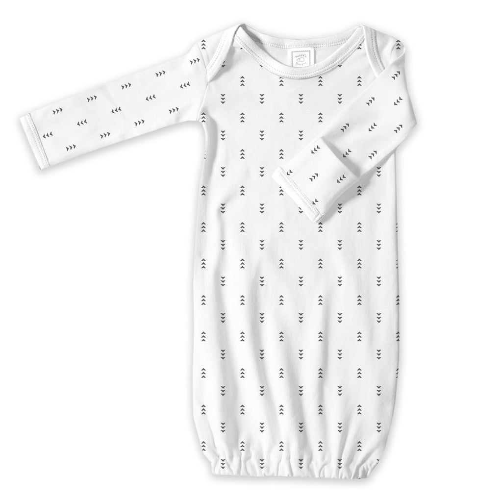 Cotton Knit Gown - Tiny Arrows