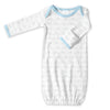 Cotton Knit Gown - Tiny Doggie Pastel Blue